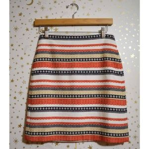 NWT Loft Striped Textured Pencil Skirt Size 00P